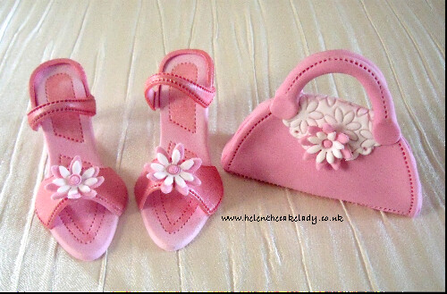 pink shoes handbag cake topper a photo on flickriver