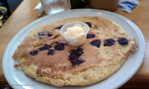 giant blackberry cornmeal pancake
