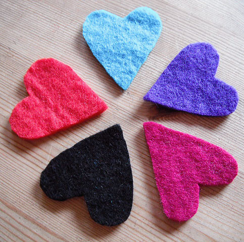 WIP heart brooches