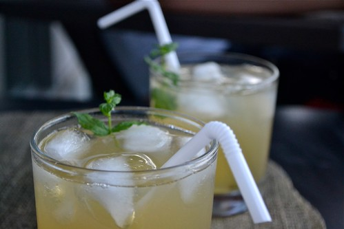 spiked ginger-mint lemonade