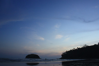 Image of Kata Yai Beach near Ban Karon. sunset seascape beach thailand best phuket
