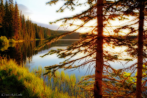 lake mountains sunrise landscape dawn colorado rocky grandmesa