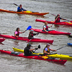 coxswain(0.0), watercraft rowing(0.0), vehicle(1.0), sports(1.0), rowing(1.0), canoe sprint(1.0), kayak(1.0), boating(1.0), water sport(1.0), kayaking(1.0), sea kayak(1.0), canoeing(1.0), boat(1.0), paddle(1.0),