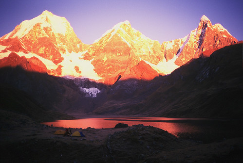 Huayhuash Sunset above Laguna Mituacocha