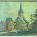 010740 Kirche in Ottweiler mit Kuh im Vordergrund