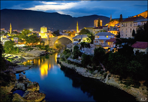 Мостар Nightfall over Mostar