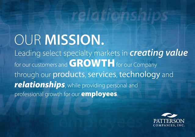 Patterson dental mission statement poster flickr for Adobe mission statement