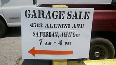 Yard Sale sign or Custom sign