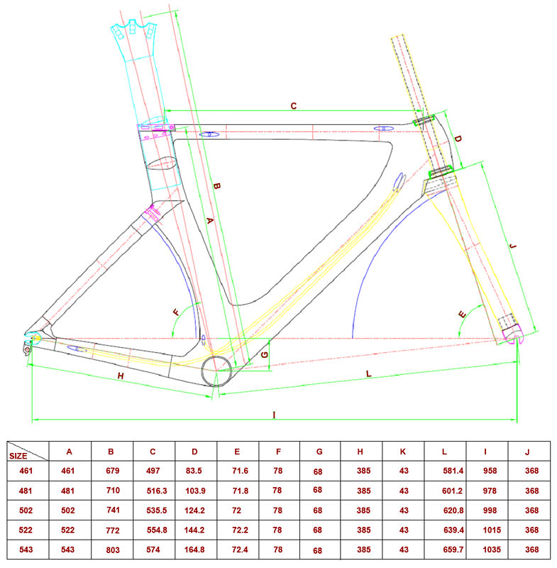 Beautiful Bicycle Frame Size Chart Pictures - Ideas de Marcos ...