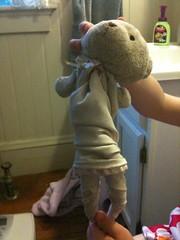 boy(0.0), mascot(0.0), teddy bear(1.0), textile(1.0), plush(1.0), stuffed toy(1.0), toy(1.0),