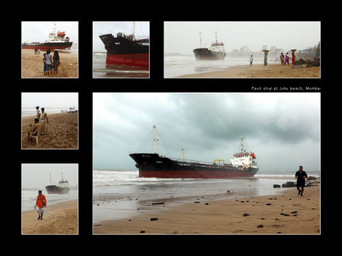 Pavit ship at Juhu Beach, Mumbai