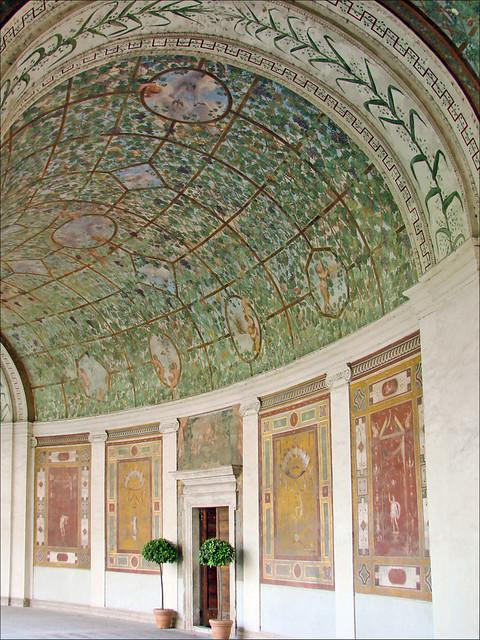 le portique peint de la villa giulia rome flickr photo sharing. Black Bedroom Furniture Sets. Home Design Ideas