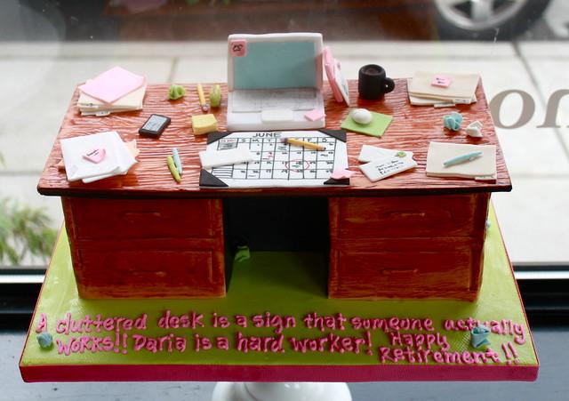 Messy Desk Cakes