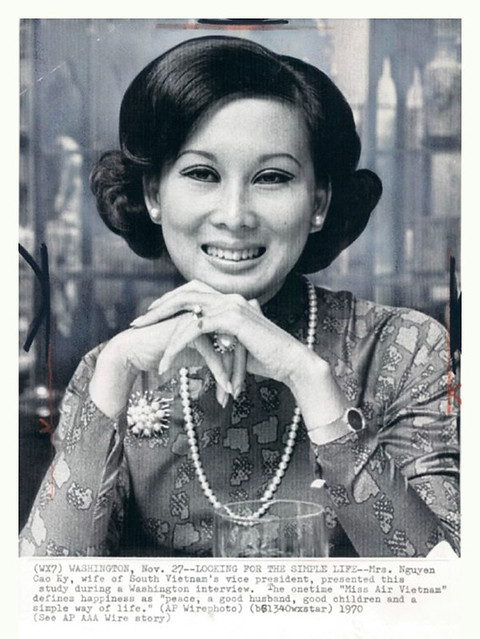 Mai Ky, wife of South Vietnam Prime Minister Nguyen Cao Ky. November 27, 1970.