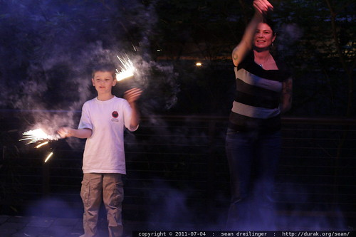 nick & rachel with sparklers