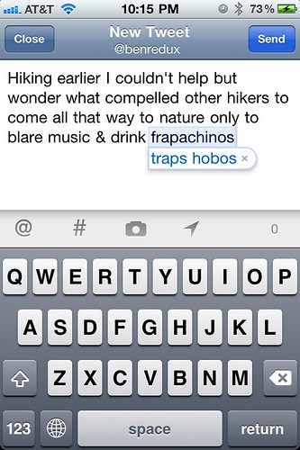 FunFact: iPhone autocorrect doesn't like hobos. Frapachinos?