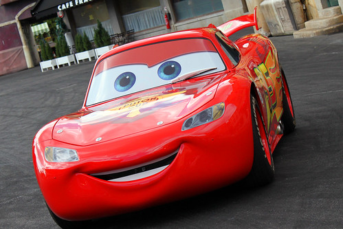 Meeting Lightning McQueen