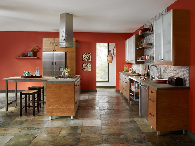 Global kitchen walls farmhouse red 170d 7 back wall silv flickr photo sharing - Behr kitchen paint colors ...
