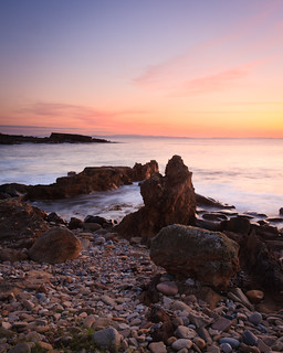 Peach Sunset, Hopeman, Moray