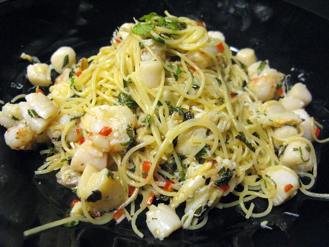 Pasta with Crab, Mint & Chilies | Flickr - Photo Sharing!