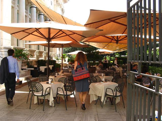 Terrace Cafe at the Galleria Nazionale d'Arte Moderna
