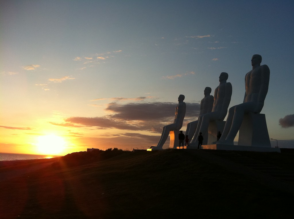 Man Meets Sea at Sunset