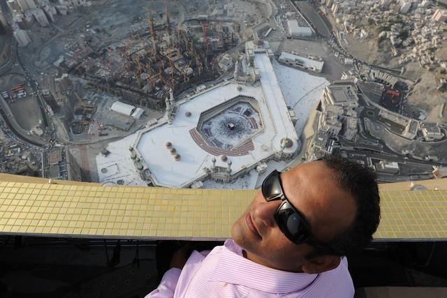 Jahangir Khan (me) at Mecca Clock Tower, in Saudi Arabia