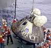 Apollo 13 Command Module recovery after splashdown April 17, 1970 by DesertBlooms