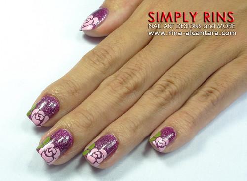 Nail Art Rose Tips 01