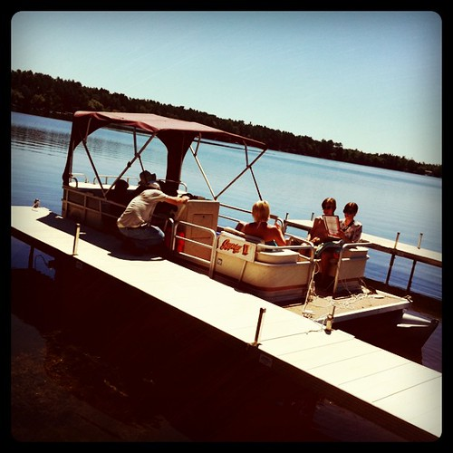 Getting ready for a day on the lake #vacation