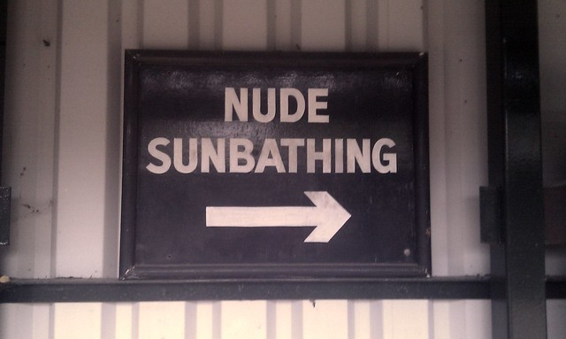 nude sunbathing this way