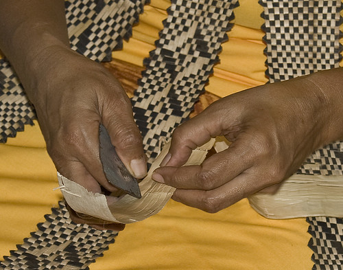 Hands of Mele Vaikeli, Tongan Grass Weaver