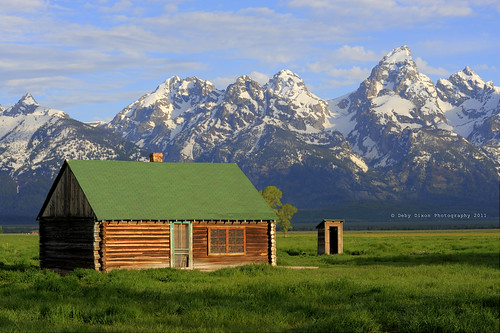 At home in the Tetons - John Moulton Homestead