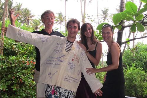 Sanne, Peter, Alix & Fabian, Ahungalla, Sri Lanka