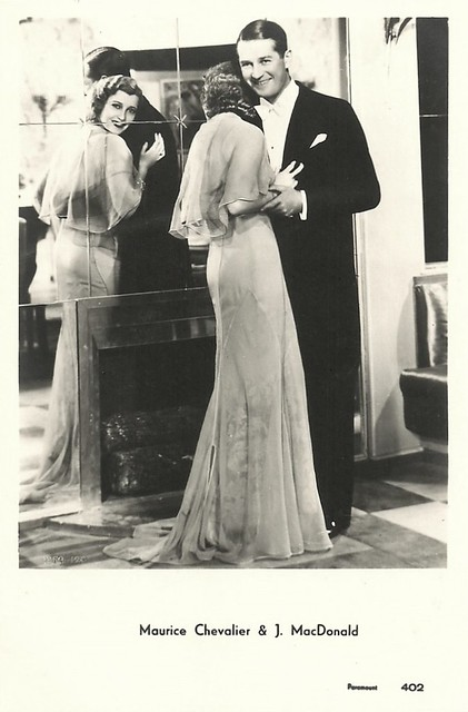Maurice Chevalier and Jeannette MacDonald