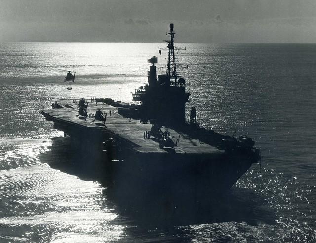 HMS Hermes (R12) Centaur Class Light Fleet Carrier Converted to Commando Carrier Norway 1975