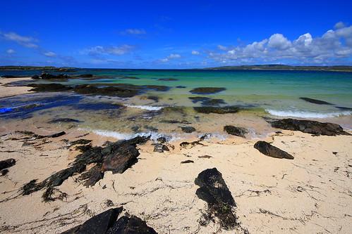 ocean blue ireland sea sky white beach water rock clouds rocks like clear connemara caribbean platinumheartaward