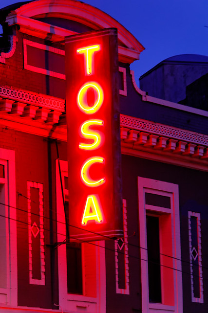 Tosca Cafe Neon Sign, North Beach San Francisco