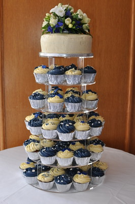 navy blue wedding cake with cupcakes navy blue and wedding flickr photo 17781