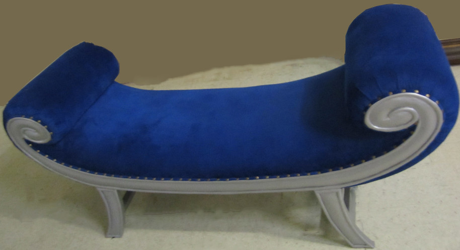 4052 BLUE SUEDE ELVIS BENCH