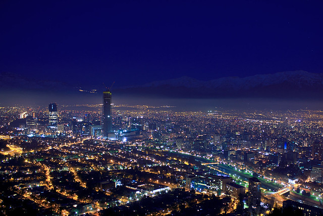 Santiago Chile skyscrapers / Canon kit lens