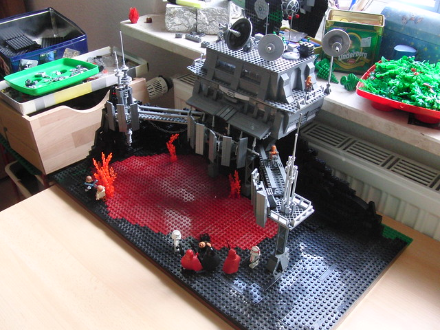 Lego star wars droid outpost on mustafar flickr photo sharing - Lego star wars base droide ...