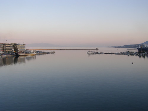 View from Mytilene's port in the morning, Lesvos Island