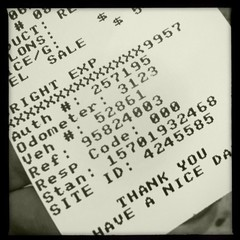 gas receipt: motherload of personal information