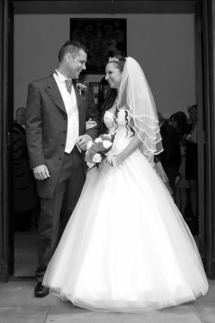 Black and white wedding photography at StMary 39s StMichael 39s Church