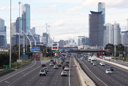 West Gate Freeway at CityLink