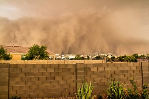 arizona az duststorm clouds dust haboob weather backyard home phoenix pm10 air quality airquality