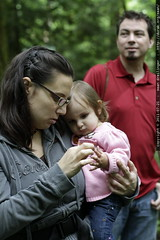 desiree, audrey lou & billy in tryon creek state park