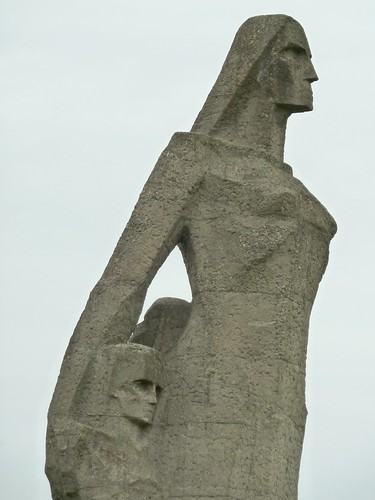 sculpture woman art children latvia salapils naziconcentrationcamp
