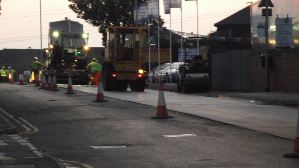 Late Night Tunstall High Street Resurfacing